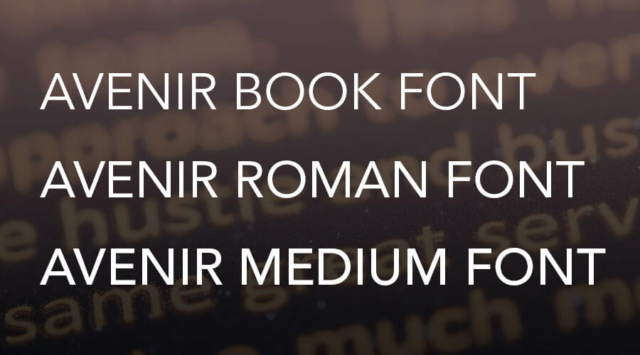 avenir book font free download windows
