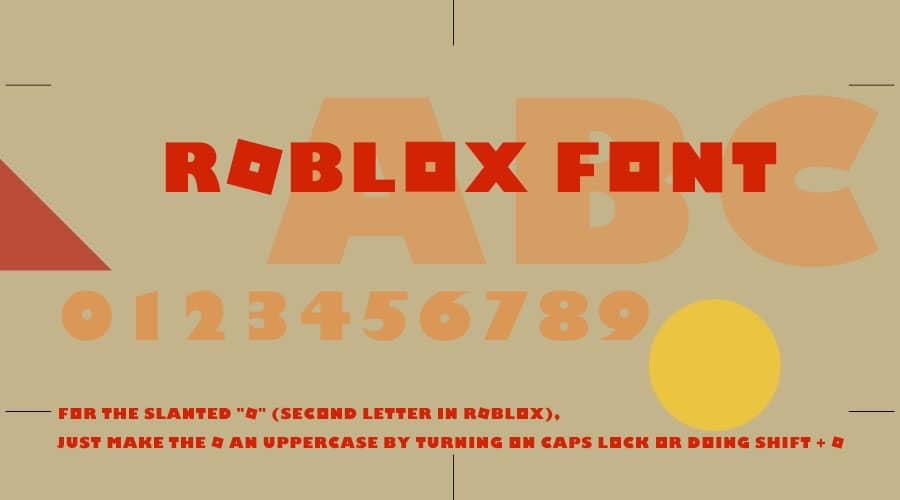Roblox Font Free Download